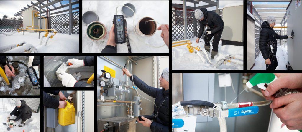 Обслуживание газгольдера в Крыму